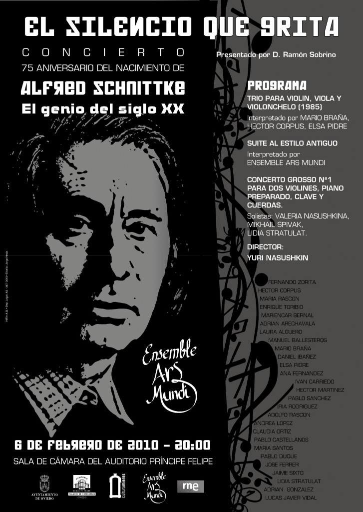 Cartel ENSEMBLE SCHNITTKE